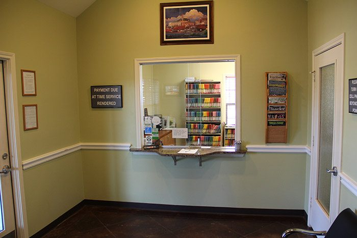 Waco, TX dental reception desk